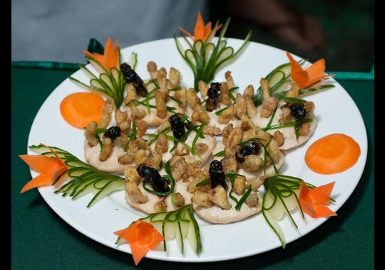 add insects to food plate