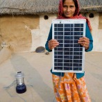 Solar Panel Powering Solar Lamp